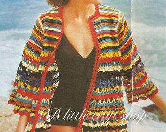 Jazzy beach wrap crochet pattern. Instant PDF download!