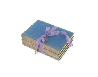 Shakespeare Book Set, Othello, Richard the Third, Much Ado About Nothing by William Shakespeare, They Yale University Press, Blue Book Decor