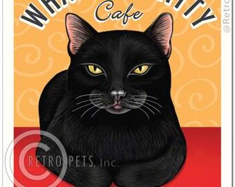8x10 Cat Art - Whatever Kitty Cafe -  Art print by Krista Brooks