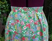 Midi Skirt High Waist Skirt  A Line Skirt Strawberry Cherry Fruit Flower Floral Festival Skirt Womens Skirt Shabby Chic Skirt Barclay Square