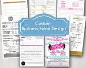 Custom Business Form / Order Form / Invoice Design / Price List / List of Services / Menu / Digital