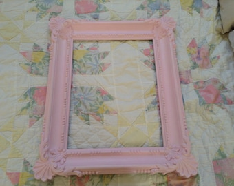 Pink Ornate Picture Frame Syroco Shabby Chic frame