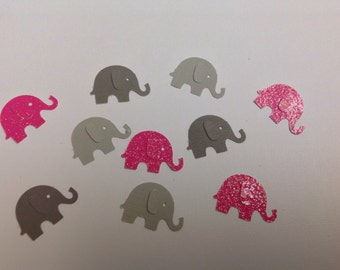 Paper Elephant Confetti 50 pc New Baby   Baby Shower   Birthday Party