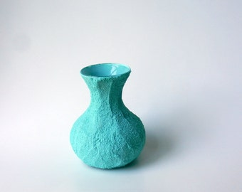 Small mint vase / blue green vase / aquamarine / Caribbean blue vase / mint green vase