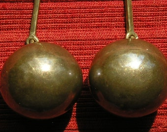Long Southwest Sterling Silver Ball Dangle Earrings