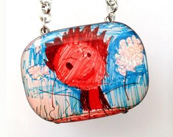 Children's Artwork Custom Necklace