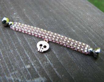 Pullip and Blythe Doll Pink Skull Choker Necklace
