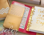 SALE Gold Color Crush Personal Planner Kit • FREE Washi Tape • Webster's Pages Color Crush Planner Kit Gold