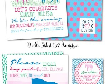 Preppy Pony Party Invites