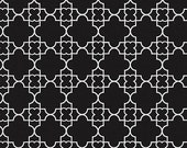 Paris 2015 Fabric by Timeless Treasures Black Quatrefoil with White