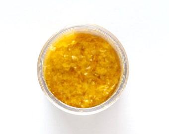 Yellow Edible Glitter, Yellow Cupcake Sprinkles, Yellow Glitter Sprinkles (1/4 ounce)