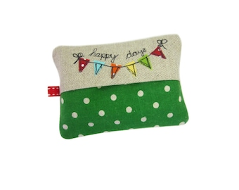 Travel Tissue Case, Pocket Tissue Cover, Pocket Tissue Holder, Bunting, Purse Tissue Holder, Stocking Stuffer