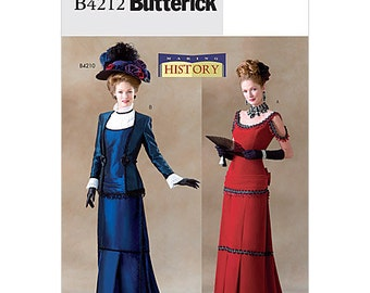 Butterick Pattern 4212 - Ladies Victorian Outfit - Sz 12-14-16 - OOP