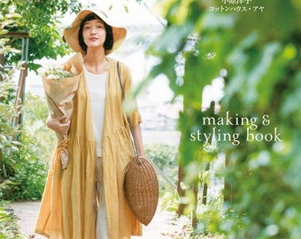 Japanese Style Clothing, Easy Sewing Pattern Book, Women Clothes, Cotton House Aya, Dress, Shirt, Tunic Blouse, Pants, Apron, Skirt, B1607