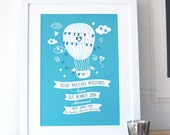 Personalized Christening and New Baby Gift Print - New born baby gift, gift for baby, baby statistics, christening gift
