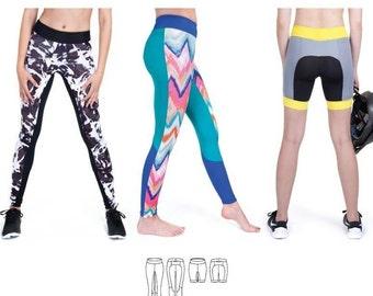 Jalie Cora Running Tights or Shorts Leggings Sewing Pattern 3462
