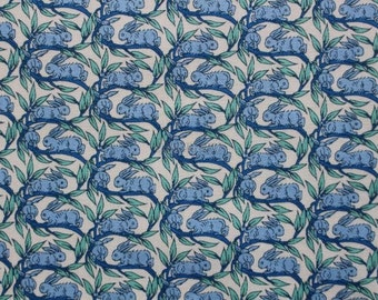 Liberty tana lawn printed in Japan - Cotton tail - Blue mix