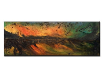Landscape Sunset Painting by Henry Parsinia Ready to Hang 48x18