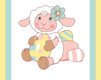customize/princess/babies/dainty/for daughter-made to order baby crib quilt-BA BA Sheep quilt-size 36x54inches