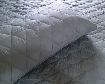 Homemade Quilts/Gray quilt/King Size Quilt/Patchwork Quilt/Vintage Bedspread/Cotton Anniversary Gift For Men/Linen/Engagement Gifts