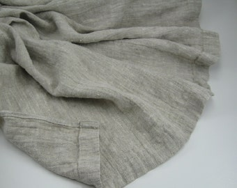 Handmade Linen Throw / Blanket / Towel / Coverlet / Bedspread / Flat sheet / Summer Throw --- Oatmeal