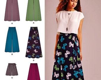 Palazzo Pants Pattern, Wide Leg Pants or Shorts Pattern, Wrap Skirt Pattern, Long Skirt Pattern, Simplicity Sewing Pattern 1069