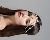 Marina Boho Bohemian Goddess Vintage Jeweled Gatsby wedding Headband Head Piece Forehead Headdress