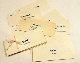 Italian English  Flash Cards Vocabulary Cards set of 18