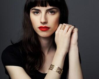 organic bracelet, organic jewelry, gold cuff, adjustable bracelet