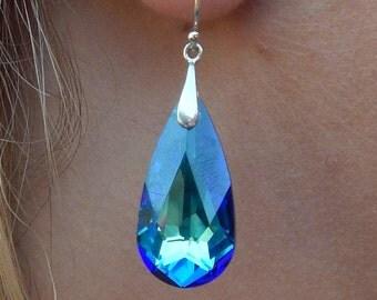 Bermuda Blue Earrings, Swarovski