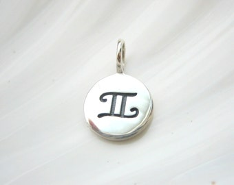 Sterling Silver Gemini Zodiac Charm - Add On - Astrological Sign