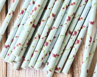 MORNING GLORY Summer Flowers paper straws