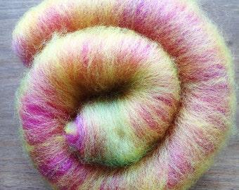 Mini Art Batt - Party Mix - Hand Dyed Corriedale Wool - Spinning Fibre