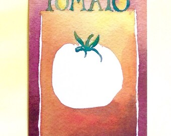 Three Tomato Postcards, gardening quotation on back, 4 in x 6 in, silky smooth card stock, foodie gift