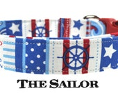Red and Blue Dog Collar - The Sailor