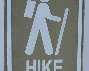 Cute Hiking sign to display next to your pictures of hiking your favorite spot