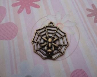 10pcs antique bronze spider net/cobweb/ spider web/ tela aranea findings 29mmx25mm