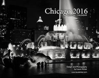 Chicago 2016 B&W Monthly Wall Calendar - Neighborhood Edition