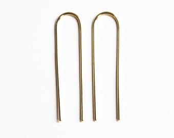Long Arc Earrings (yellow gold fill)