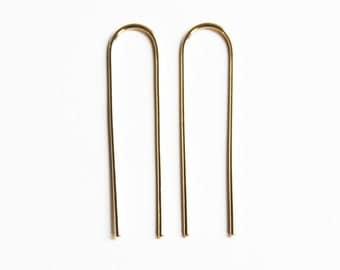 Long Arc Earrings (yellow gold fill) IN STOCK!