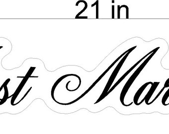 Just Married Script Wedding Static Cling Window Decals Removable and Reusable Wedding Clings Car Decorations