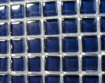 100 (10mm) Cobalt Ink Indigo Blue MINI Crystal Glass Tiles, 3/8 in.// Mosaic Supplies// Crafts//Mosaic