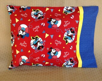 Minnie Mouse Nautical Travel Pillowcase