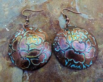 Rosebud polymer clay earrings