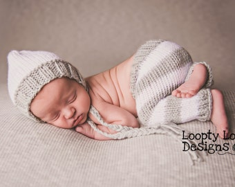 Newborn Knit Pants only, Newborn Photo Prop, Diaper Cover, Baby Boy, Baby Girl, Newborn Knit - SIZE NEWBORN - more color options