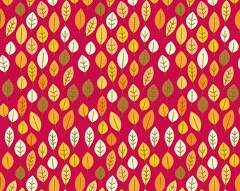 Harvest Leaves Red by Riley Blake Designs  - you pick the cut
