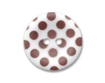 Riley Blake Sew Together buttons - Matte Polka Dot in Brown - 4pack