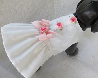 Shabby Chic Wedding Dog Dress for Dog or Cat Outfit