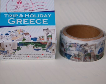 Summer 2015 Yano design Greece Trip and Holiday washi tape  20mm x 5M