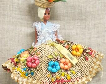 Souvenir Doll , International Dolls , Barbados , Tropical ,Small Dolls , Ethnic Costume , Traditional Costume , Ornate , Cloth , Female Doll